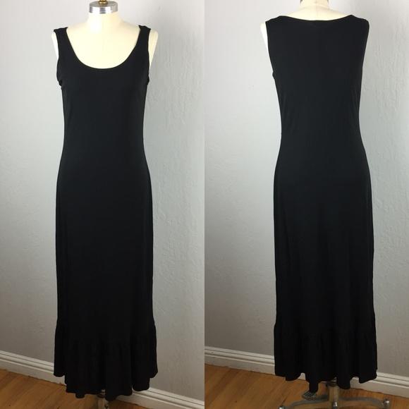 Oscar De La Renta Dresses Long Black Tank Maxi Dress Poshmark